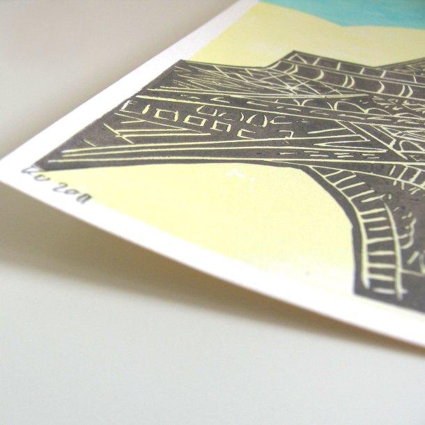 Eiffel Tower linoprint