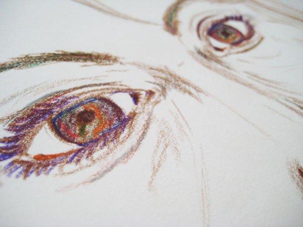 Self-portrait close-up eyes
