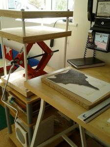 Home-made printing press