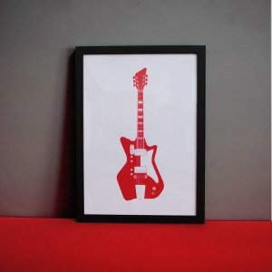 Finished photo of guitar print