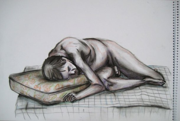 Finished second drawing - figure drawing