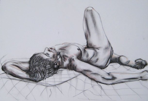 Pose one - figure drawing