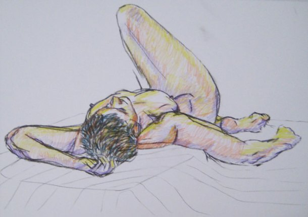 Pose two - figure drawing