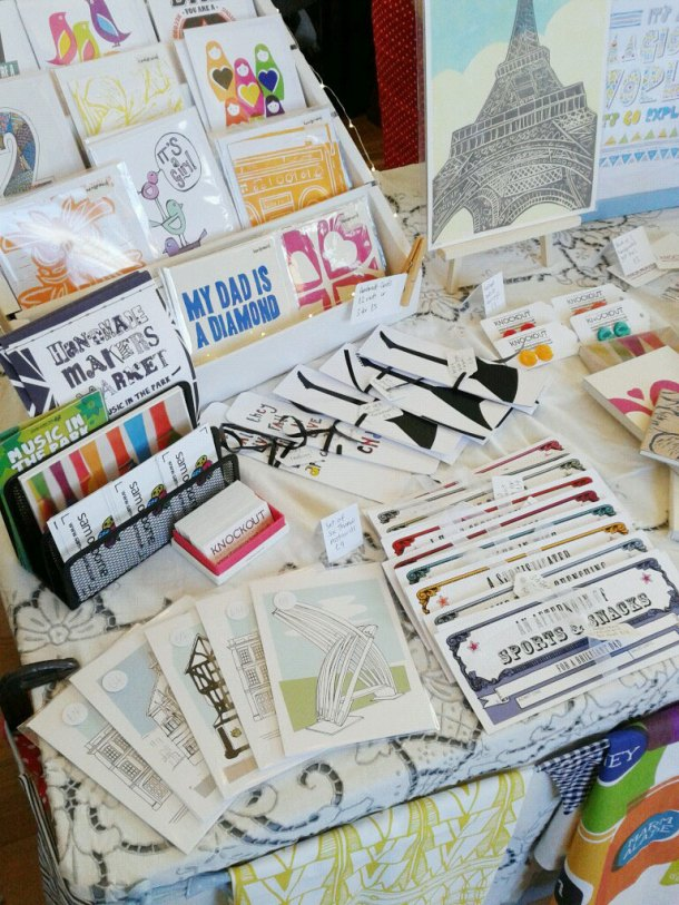 Postcard, bookmarks, vouchers and cards at Thame craft fair