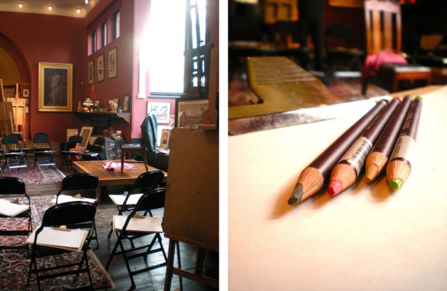 Figure drawing at Leighton House
