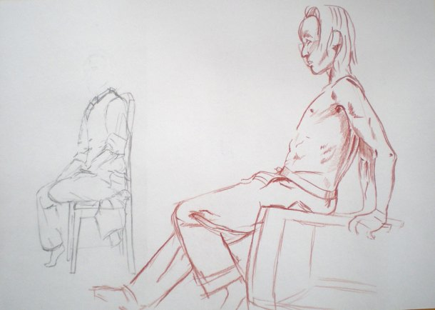 Leighton House figure drawing sketches 1