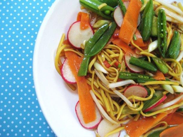Noodle salad - food photography