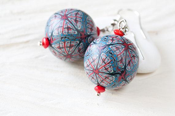 Polymer clay earrings by CookOnStrike