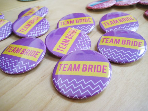 Team bride badges