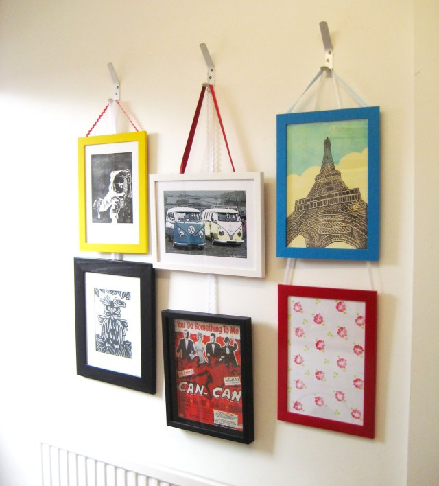Making a picture wall of framed prints