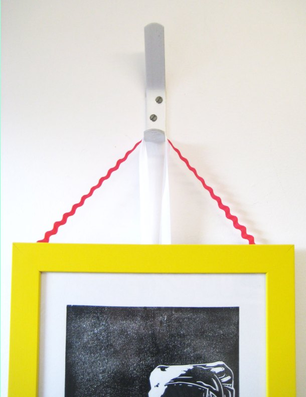 Using ric rak to hang frames