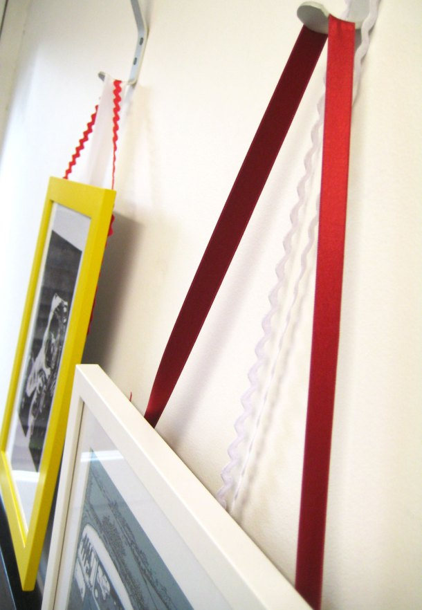 Hanging frames from coat hooks