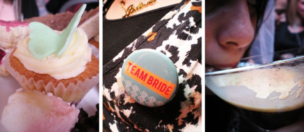 Team bride badges - hen-do