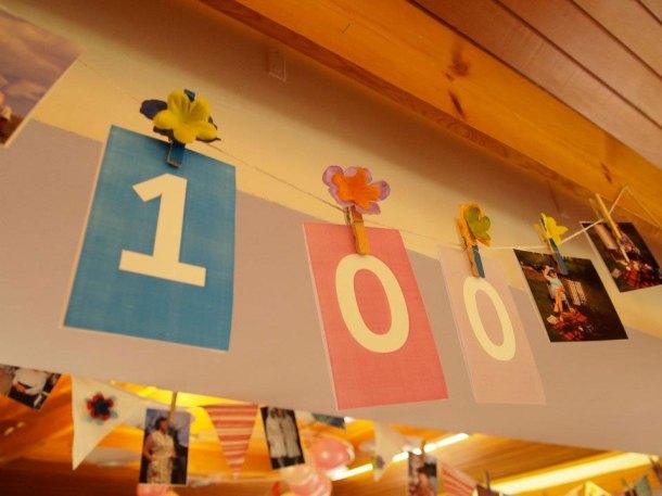 Photo bunting - nanna's 100th