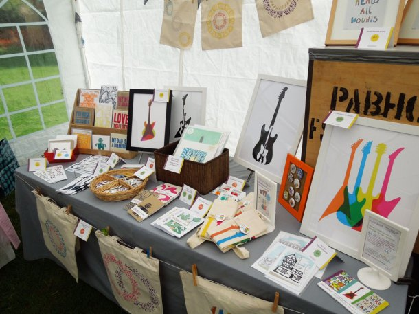 My table at the Handmade Makers Market - Music in the Park