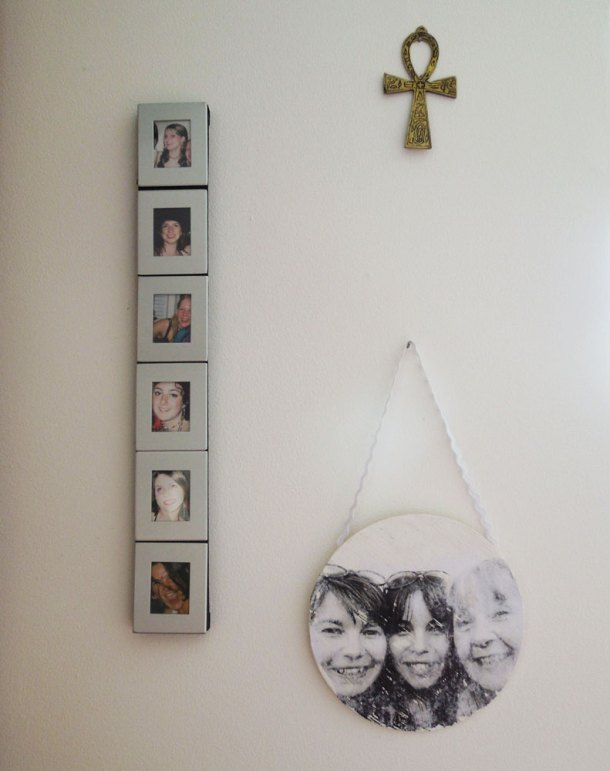 Hanging photo transfer on the wall