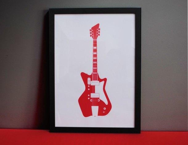 Jack White guitar print