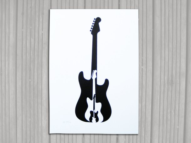 Fender guitar print