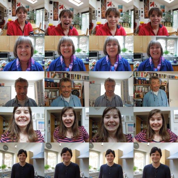 Collage of photos using the Nikon smile timer