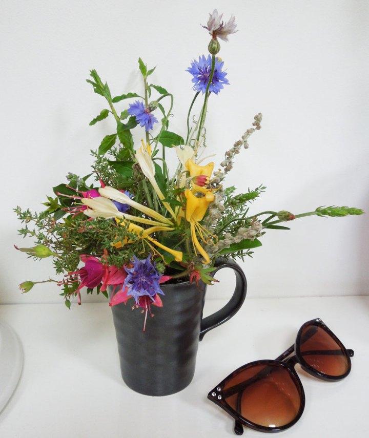 Garden flower arragement - mug of summer flowers
