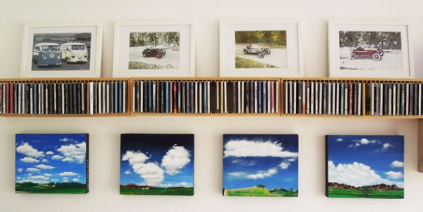 Frames around a CD rack