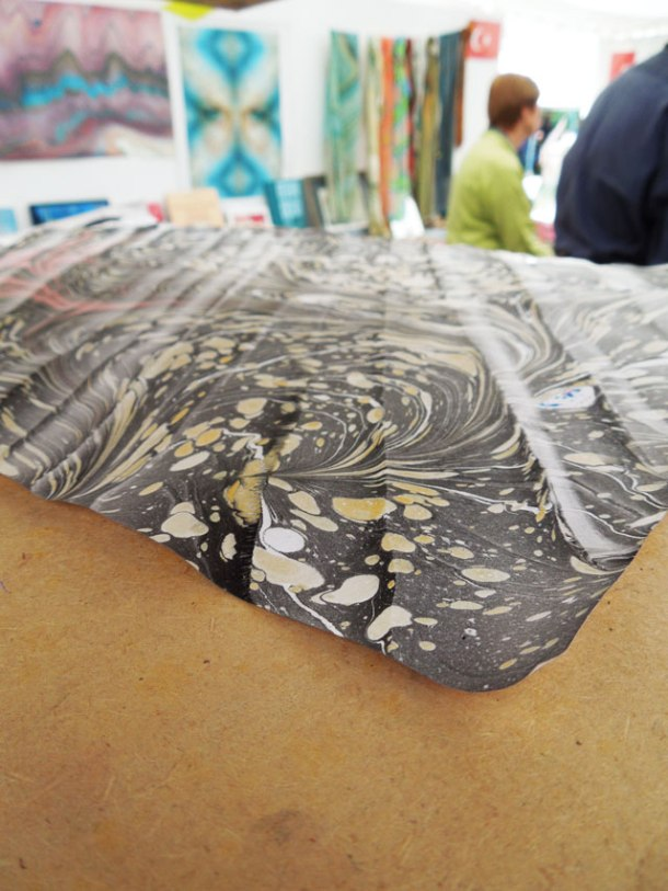 The art of Ebru (marbling) by Hikmet Barutcugil