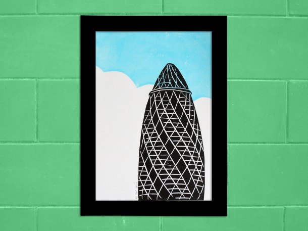 London landmark linoprints
