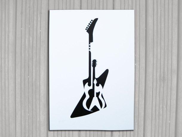 Gibson guitar print