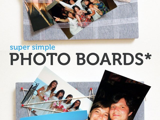 Make a super simple photo display board