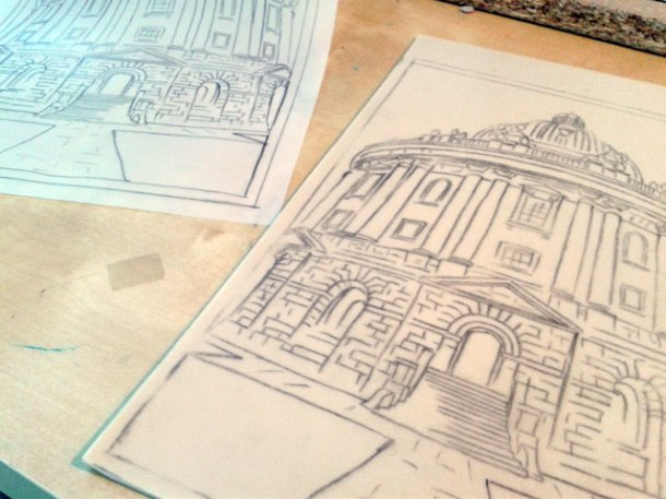 Radcliffe camera linoprint