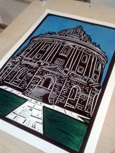 Radcliffe camera Oxford Linoprint