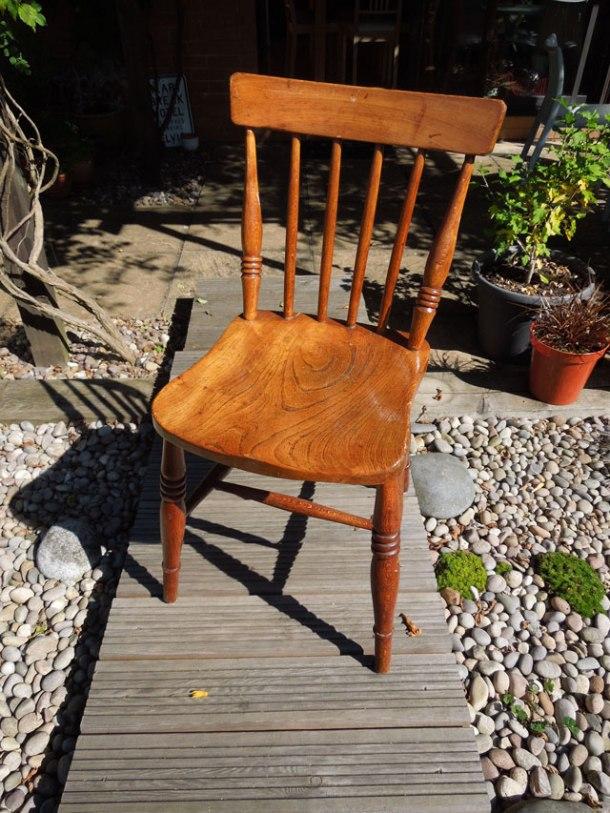 Chair before sanding