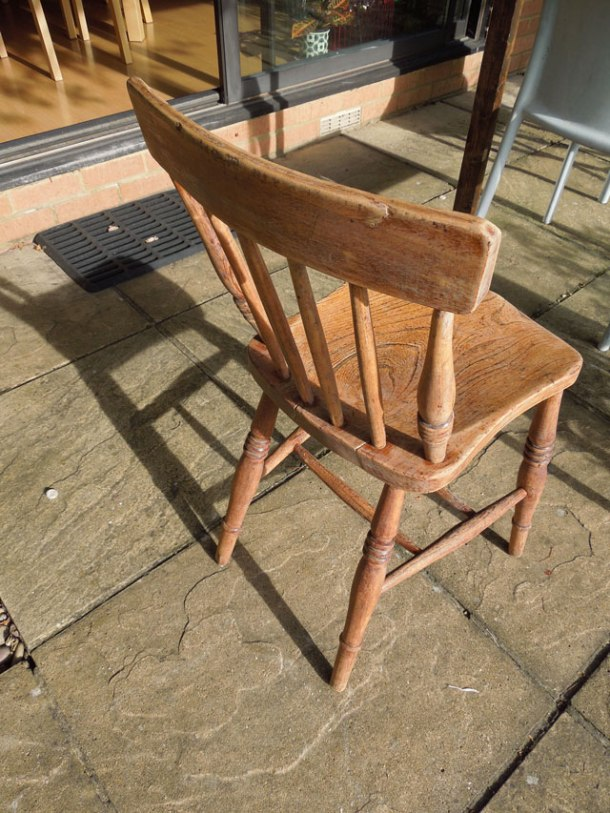 chair after sanding