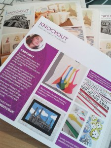 Knockout by Kim Osborne, and Sam Osborne leaflet