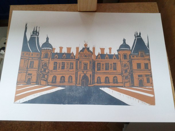Waddesdon Manor linoprint