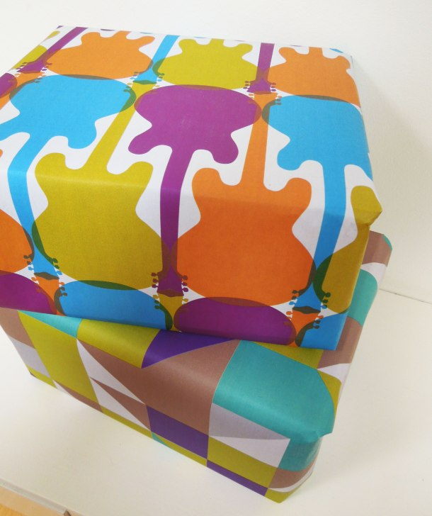 Bright wrapping paper