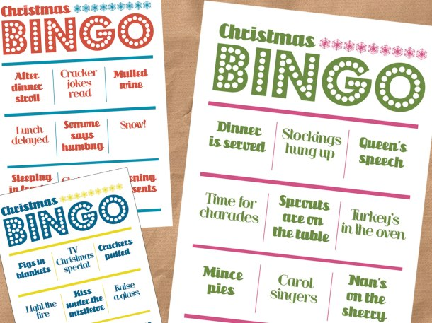 Christmas day bingo
