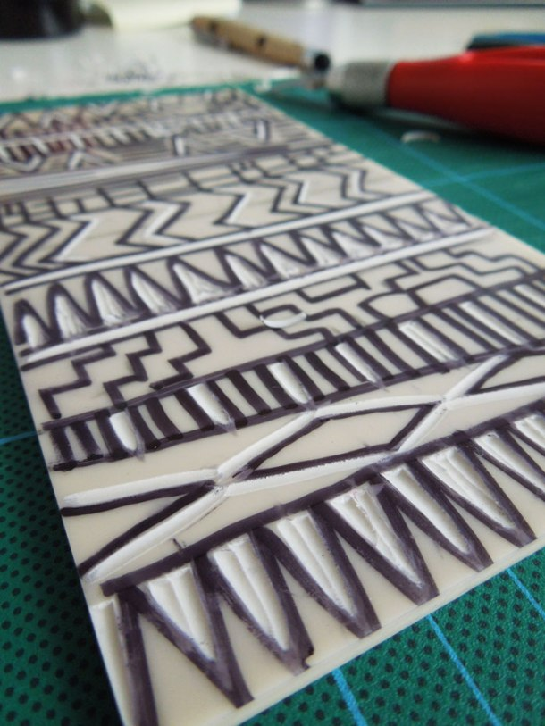 reduction lino print - how to