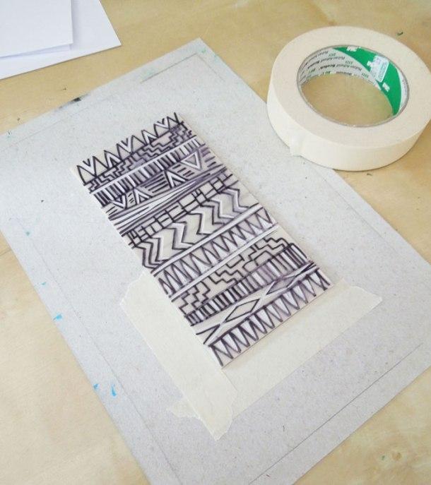 registering a lino print