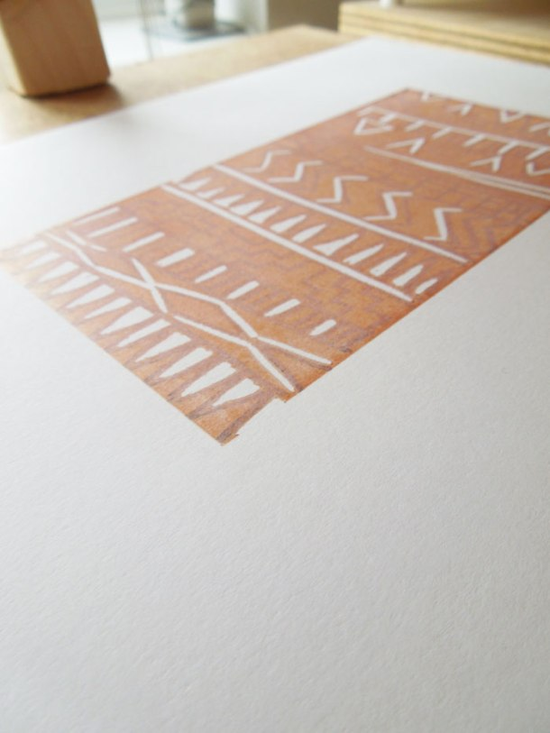 meking a reduction linoprint