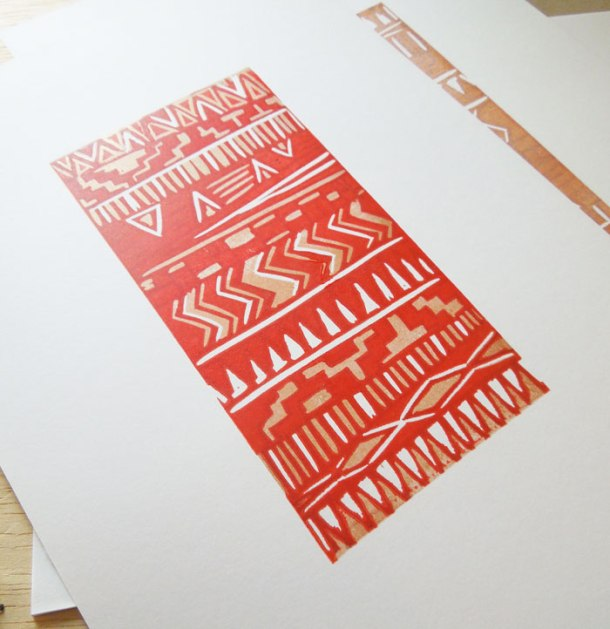 reduction linoprint
