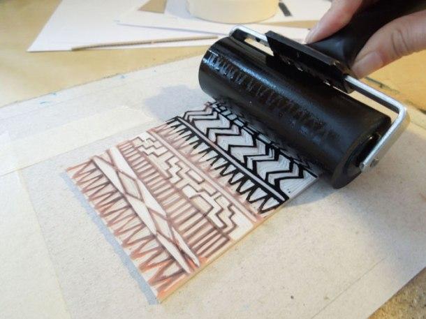 printing a linoprint