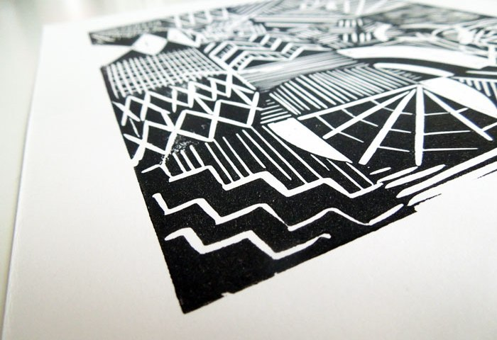 linoprint experimental