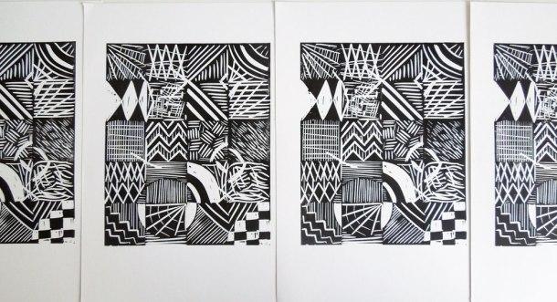 Printed edition of linoprints