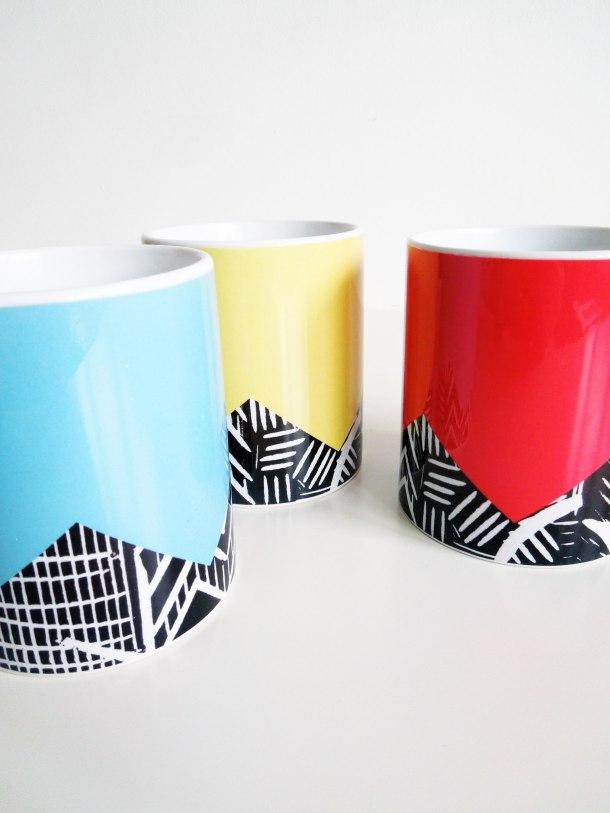 lino print mugs