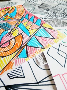 mark making and pattern