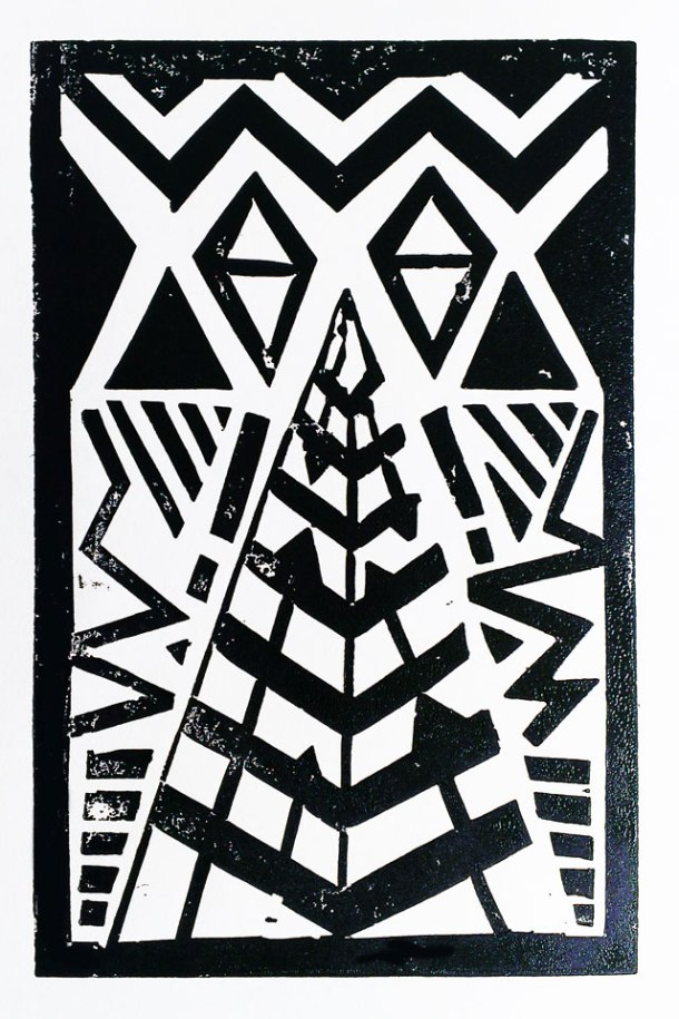 a lino print each week