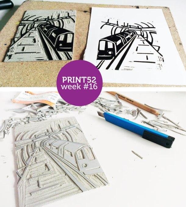 tube lino print