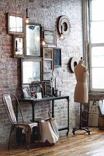 frames against brickwork