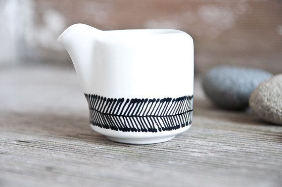 black and white ceramics